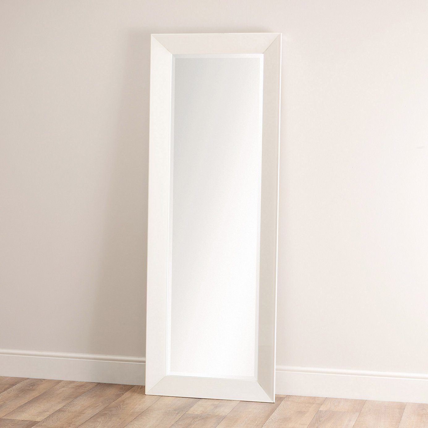 Framed full length mirror home ideas for Floor mirror white frame