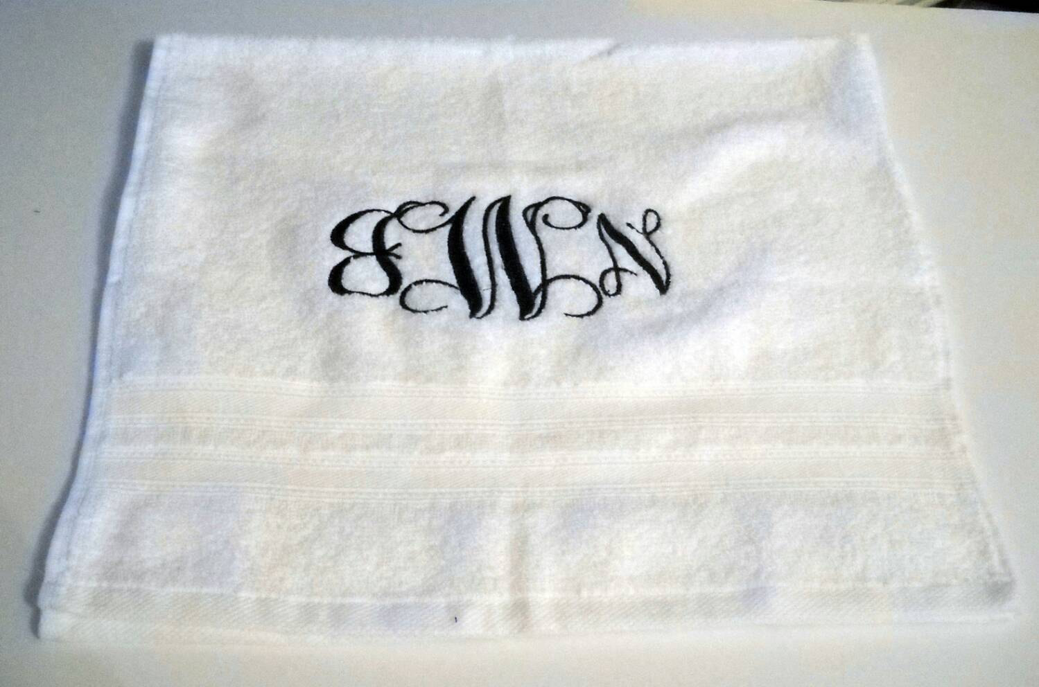 Elegant monogrammed hand towels with Decorative logo pattern towel for bathing Ideas