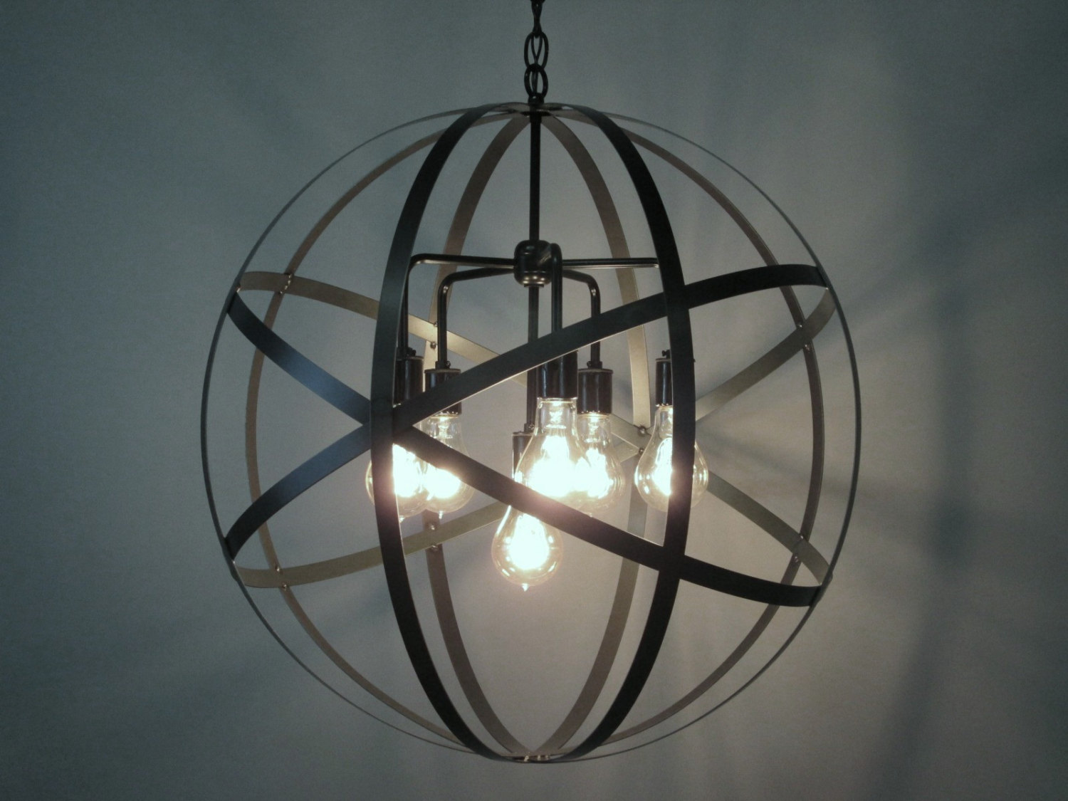 Elegant sphere chandelier metal orb chandelier with interesting Cheap Price for your Home Lighting