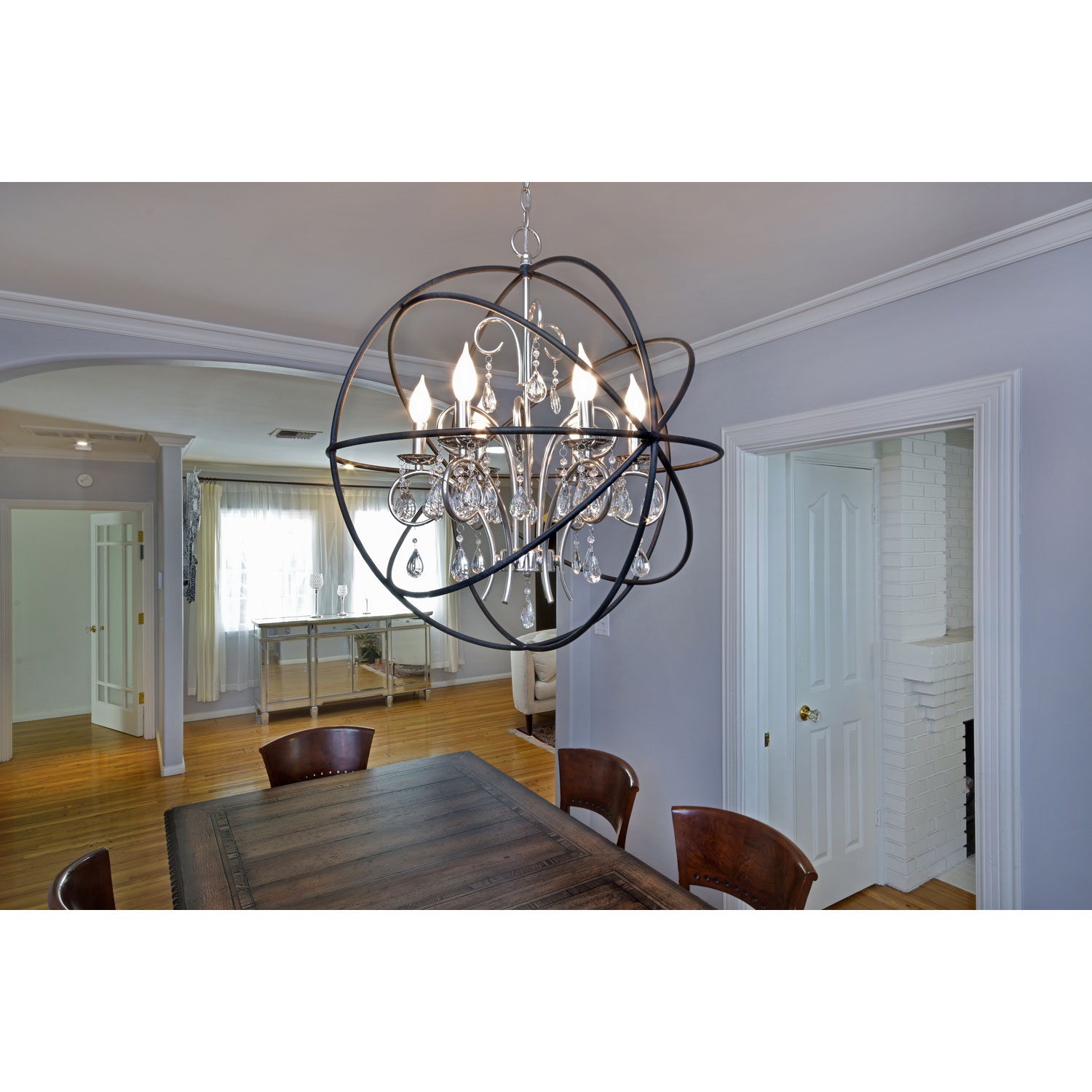 Elegant unique design of orbit chandelier with iron or stainless for ceiling lighting decorating ideas
