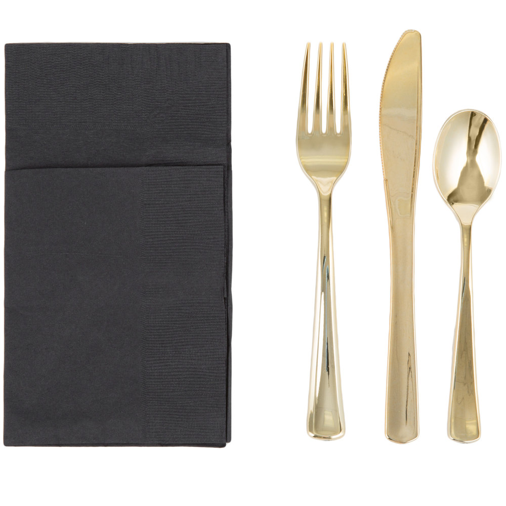 Enchanting gold plastic silverware with glitters gold plastic silverware for serverware ideas