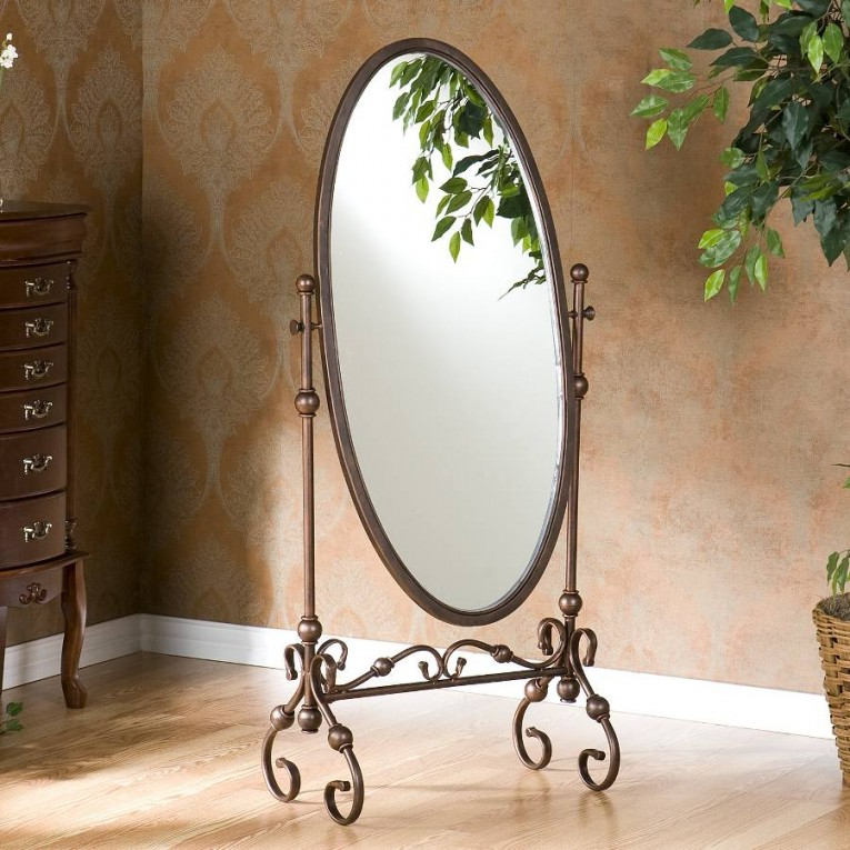 Endearing Floor Length Mirrors Ornate Ornament Mirror Frame Can Be Place At Your Beautiful Bedroom Ideas