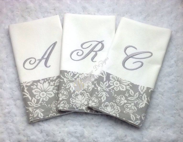 Endearing Monogrammed Hand Towels With Decorative Logo Pattern Towel For Bathing Ideas
