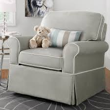 Engaging Fabric Upholstered Glider Rocker With Armchairs And Wooden Laminate Floor For Living Room