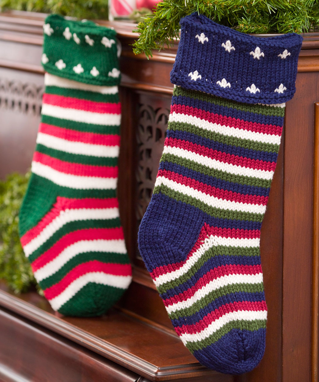 Engaging knit christmas stockings with multicolorful christmas stocking and fireplace at chistmas day interior design
