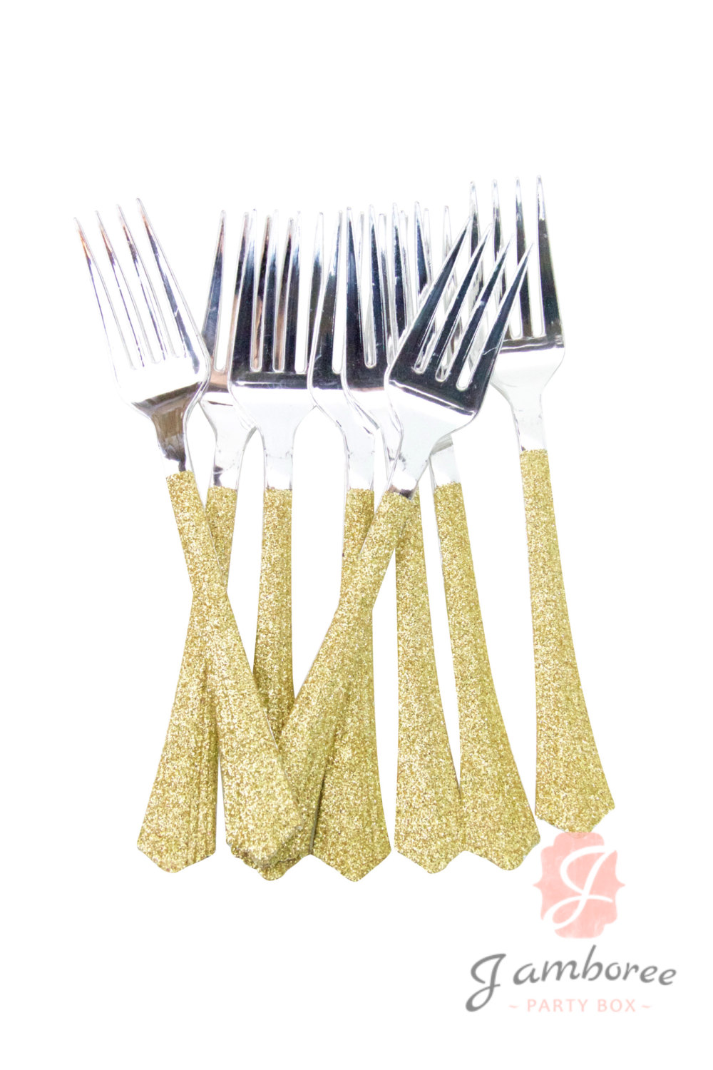 Luxury Gold Plastic Silverware for Serveware Ideas: Enjoyable Gold Plastic Silverware With Glitters Gold Plastic Silverware For Serverware Ideas