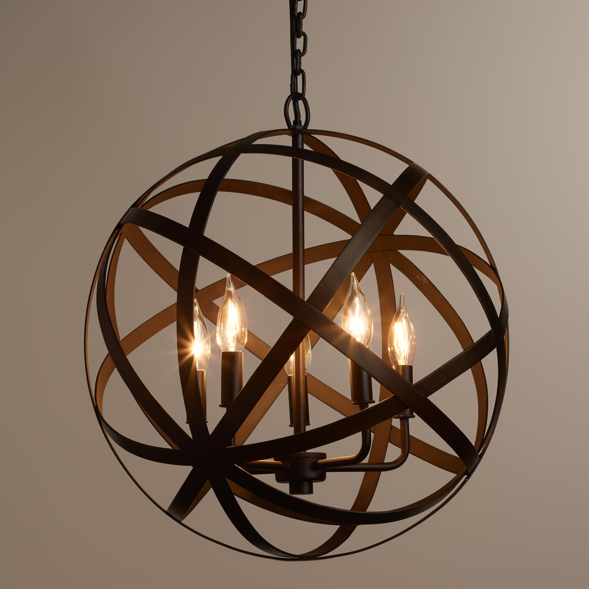 Enjoyable unique design of orbit chandelier with iron or stainless for ceiling lighting decorating ideas