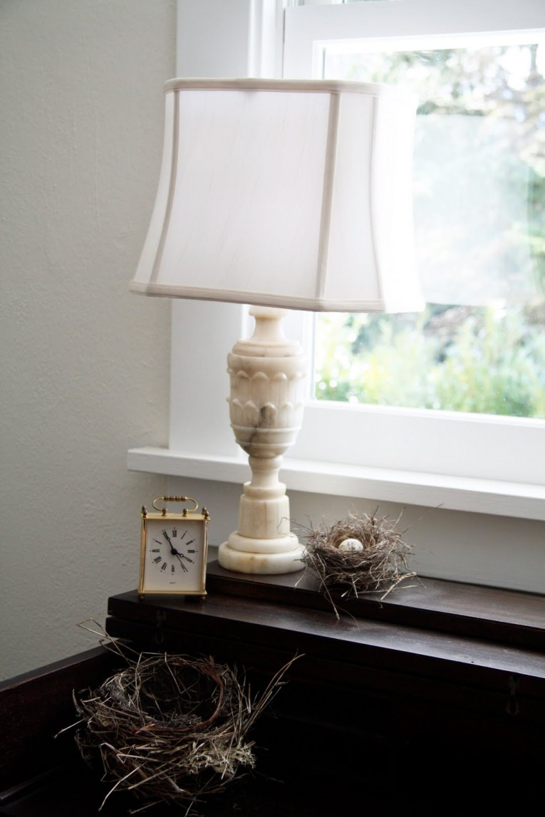 Excellent Alabaster Lamps With Time Clock Golden Clock