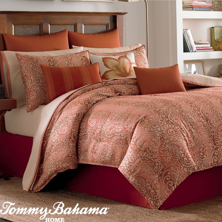 Exciting Comrforter Set Light Of Paisley Comforter With Pillows And Unique Sidetable And Nightlamps