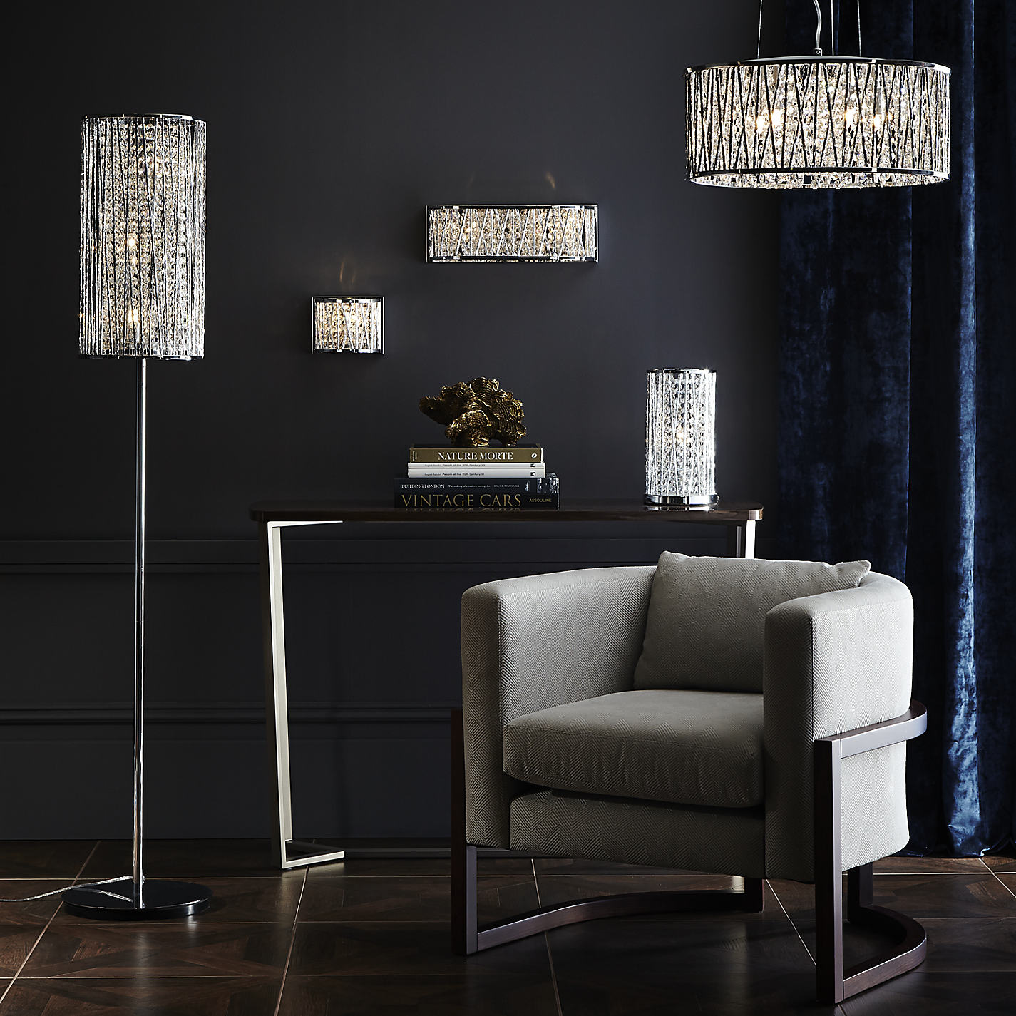 Exquisite crystal floor lamp with unique design and good for your home light ideas