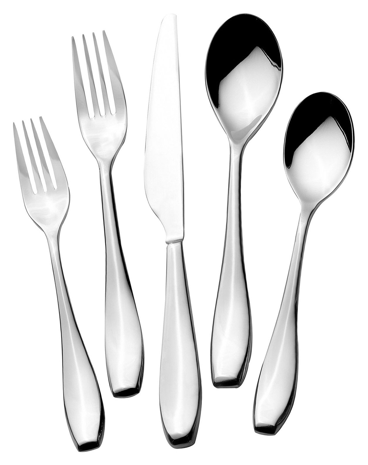 Exquisite towle flatware 5 piece stainless steel flatware set for serveware ideas