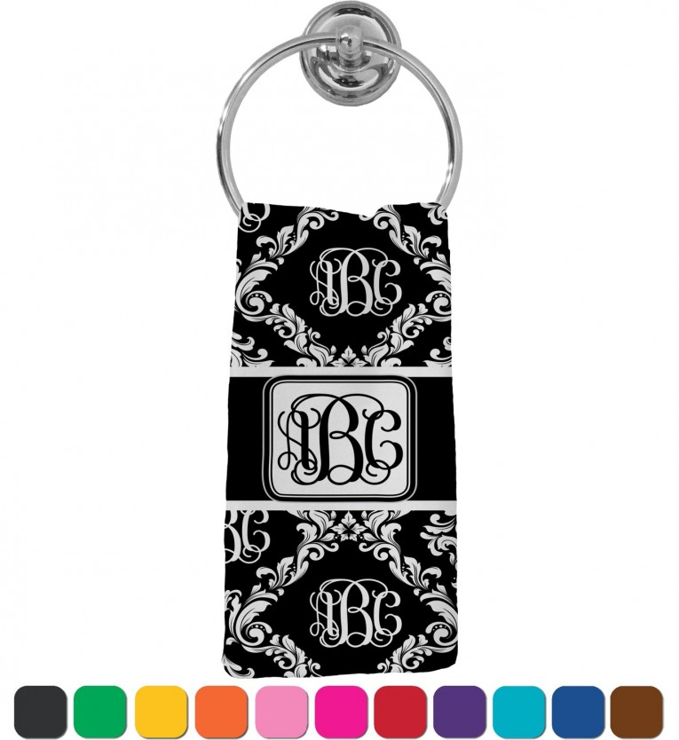 Extravagant Monogrammed Hand Towels With Decorative Logo Pattern Towel For Bathing Ideas