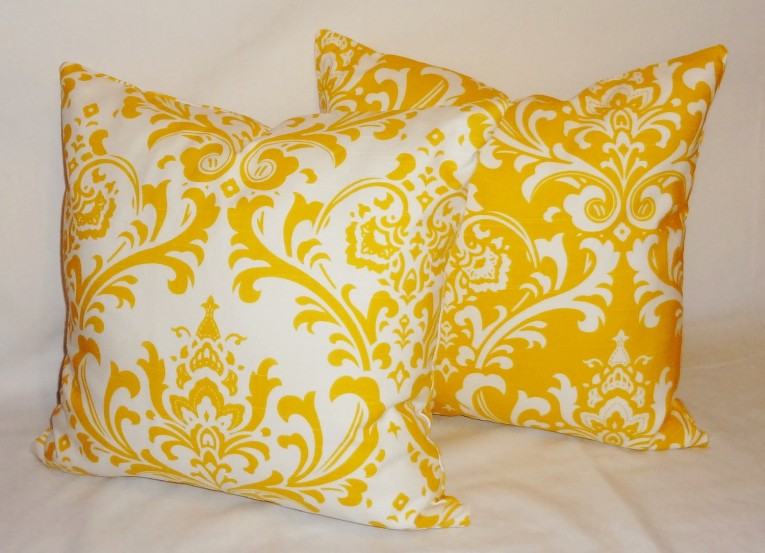 Fabulous Yellow Throw Pillows With 20x20 Inches And With True Patterns Yellow Throw Pillows For Living Room Ideas