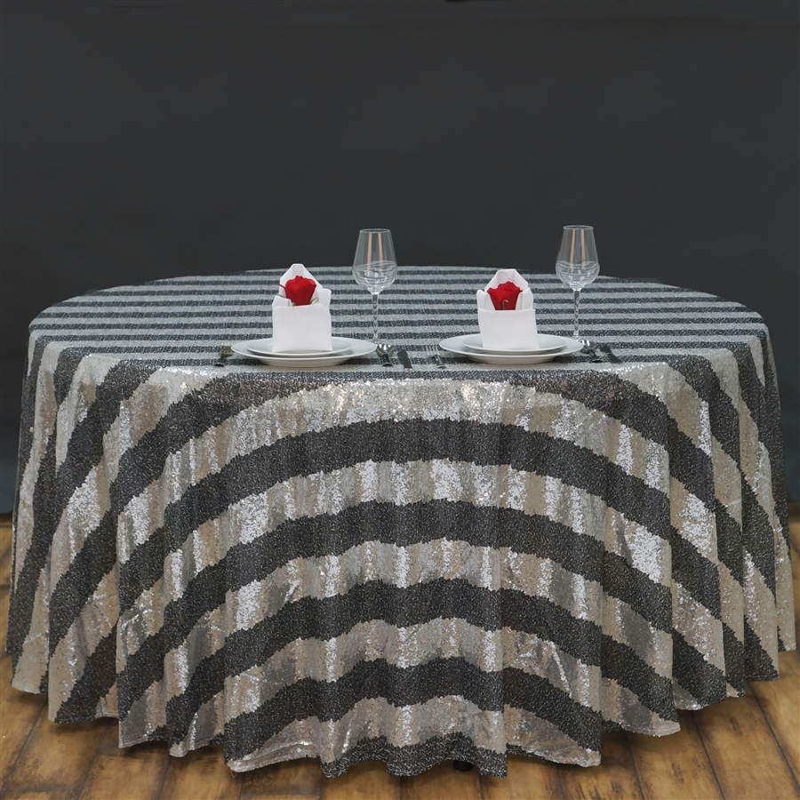 Unique Colors 120 Round Tablecloth for Dining Room Furniture Ideas: Fascinating Black And Gray 120 Round Tablecloth