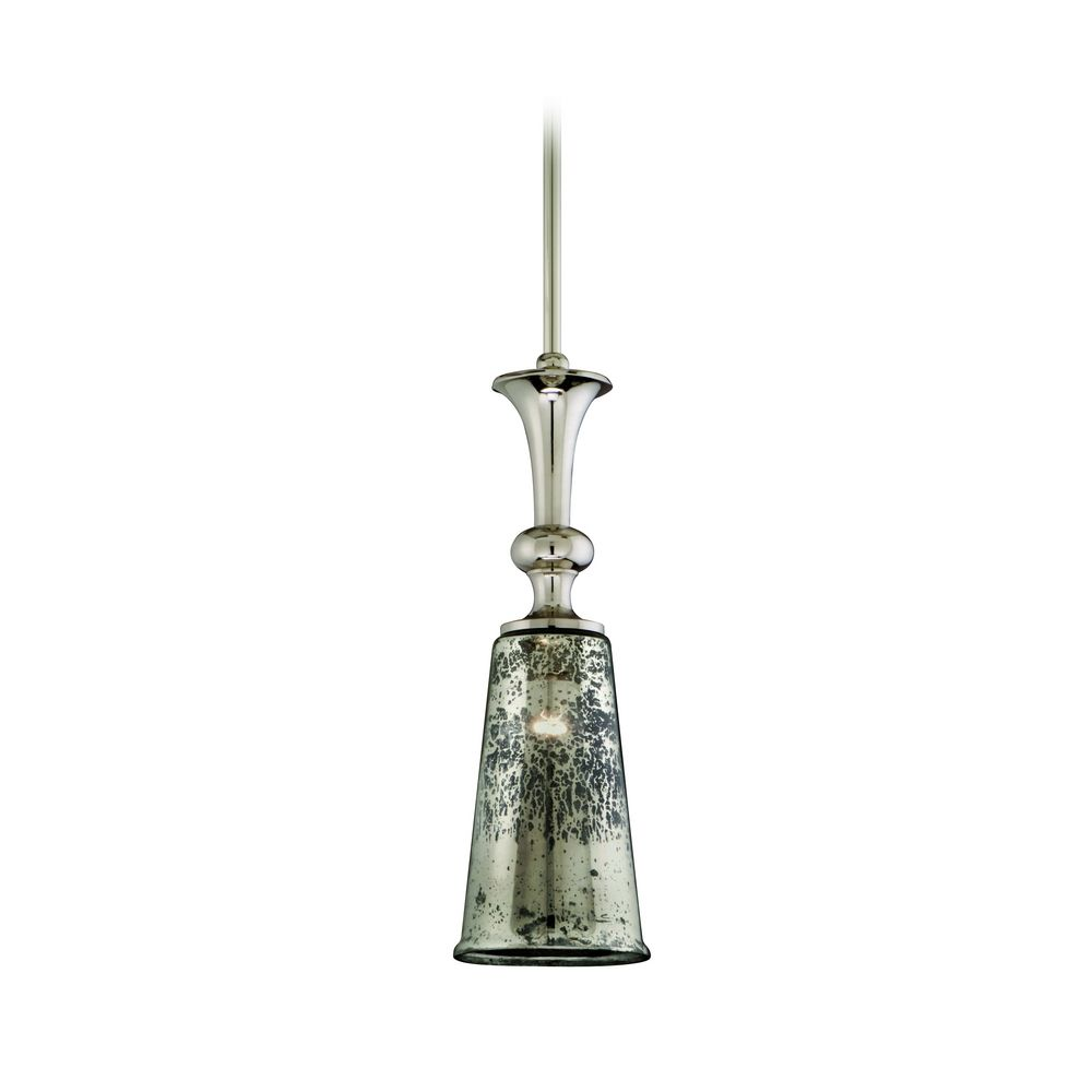 Fascinating mercury glass pendant light with corbet mini lighting light