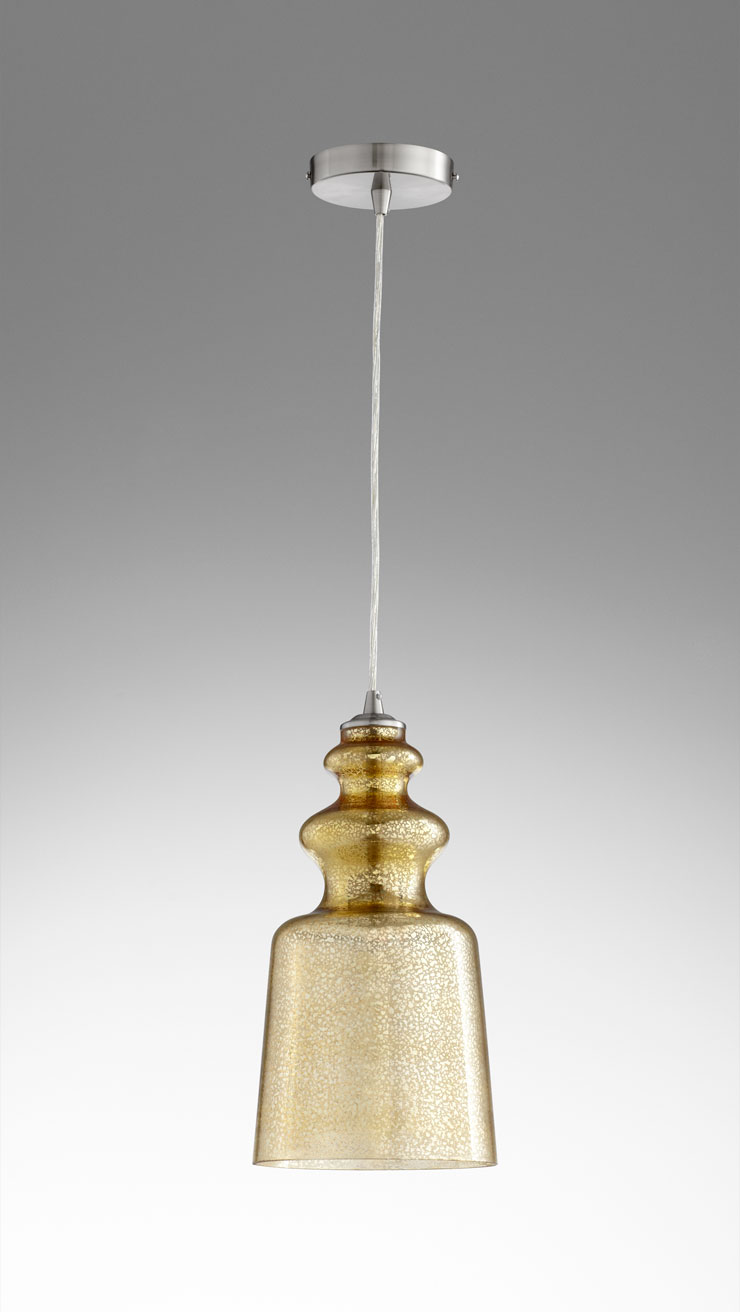 Fascinating mercury glass pendant light with light mercury and glass mercury