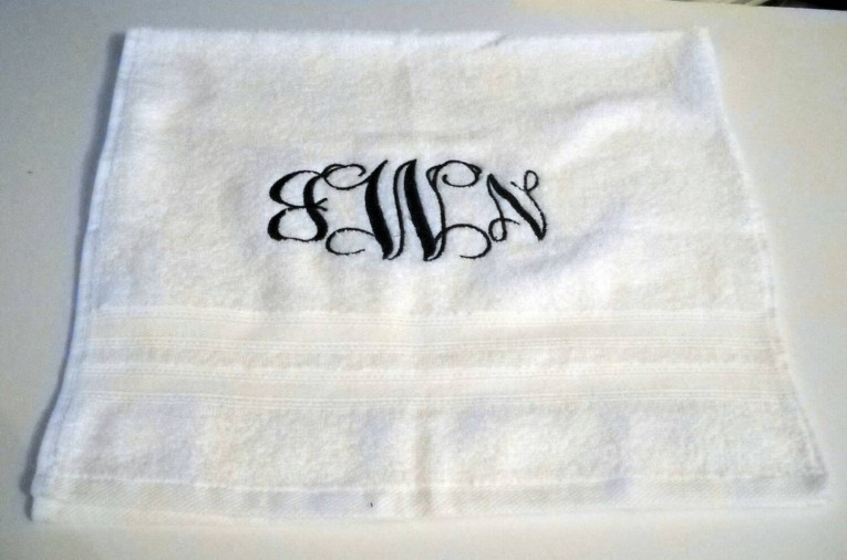 Fascinating Monogrammed Bath Towels With Personalized Towel Of Monogrammed Towel Set Ideas