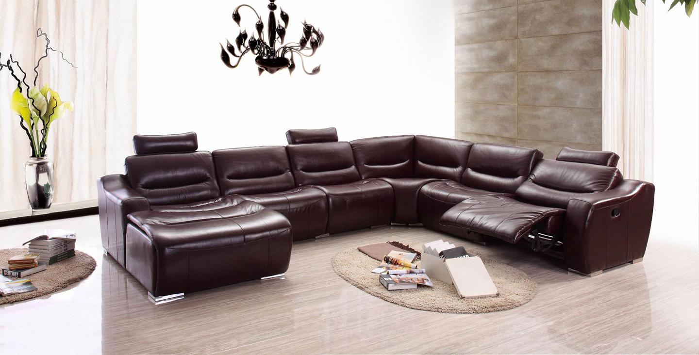 Fascinating red brown living room sectionals with ovale rug