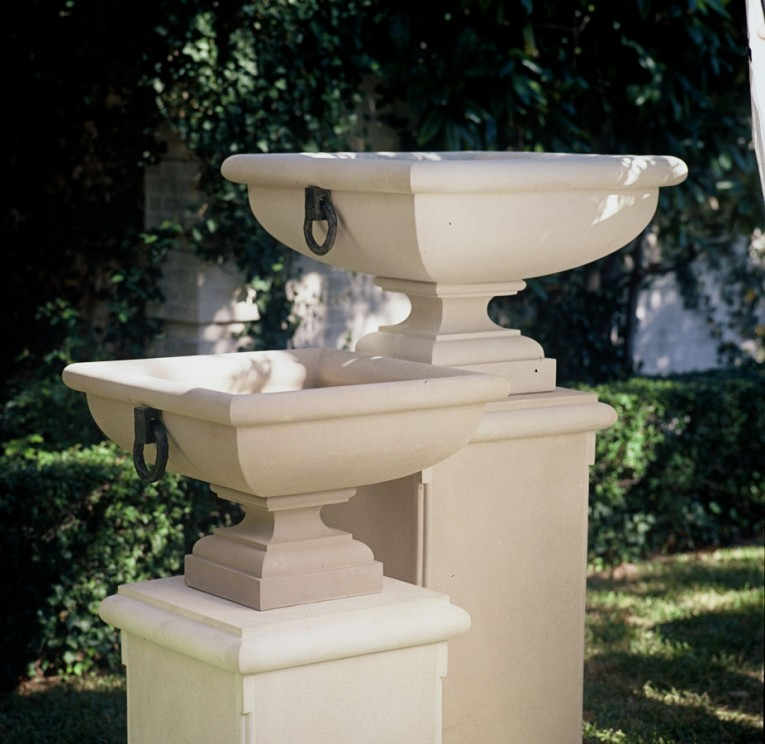 Fascinating Urn Planters White Color For Exterior