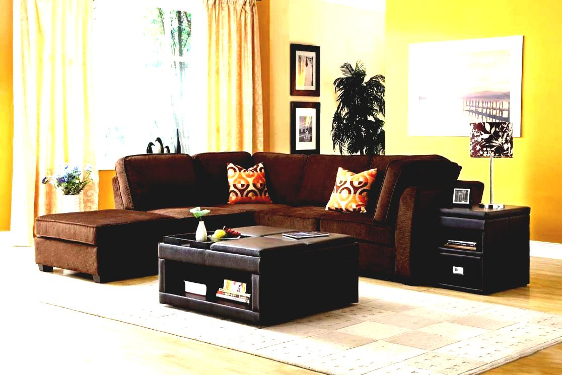 Fascinating vintage living room sectionals with black leather table