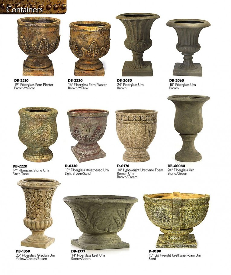 Great Pattern Urn Planters With Various Design