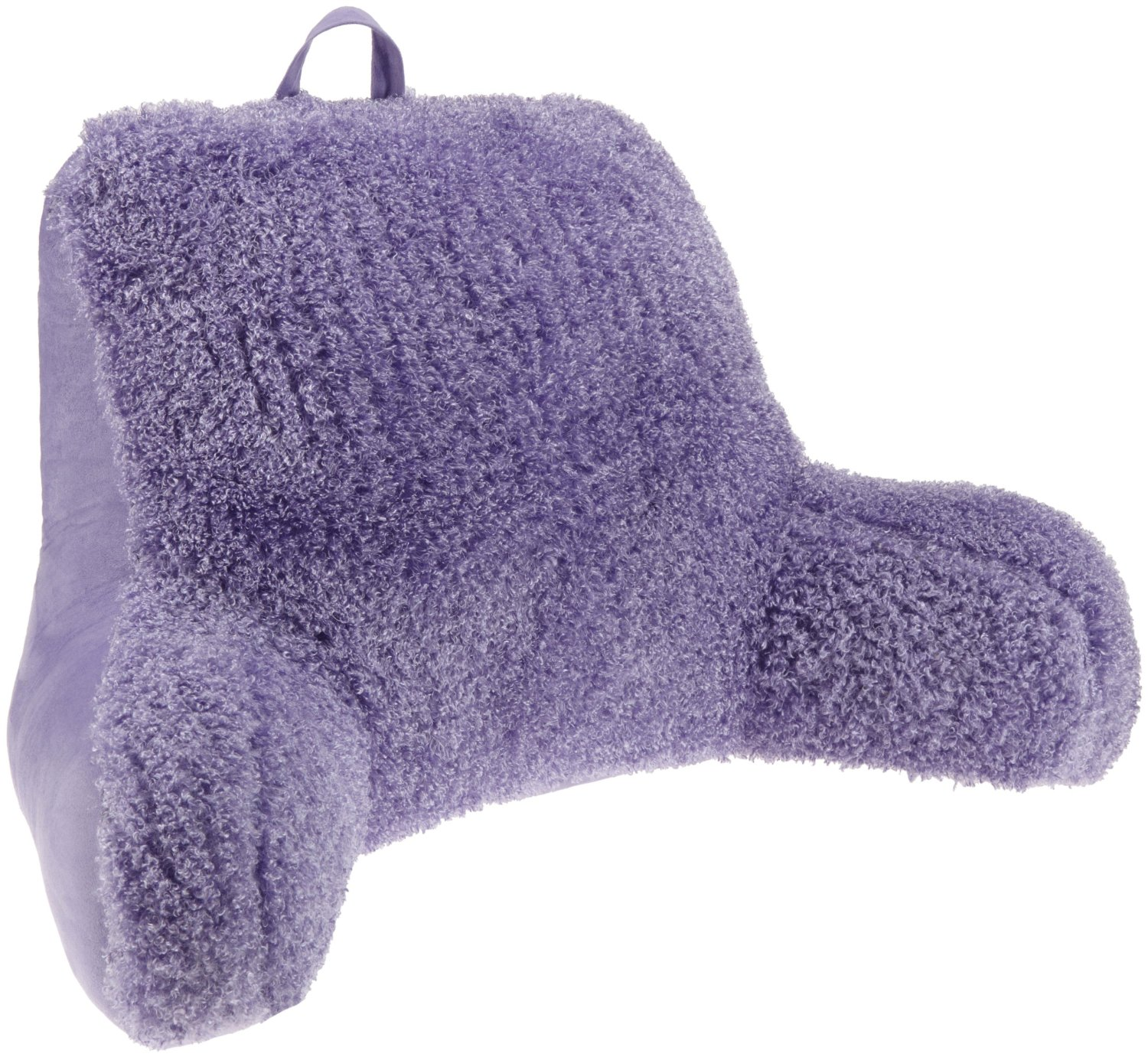 Purple backrest pillow with arms