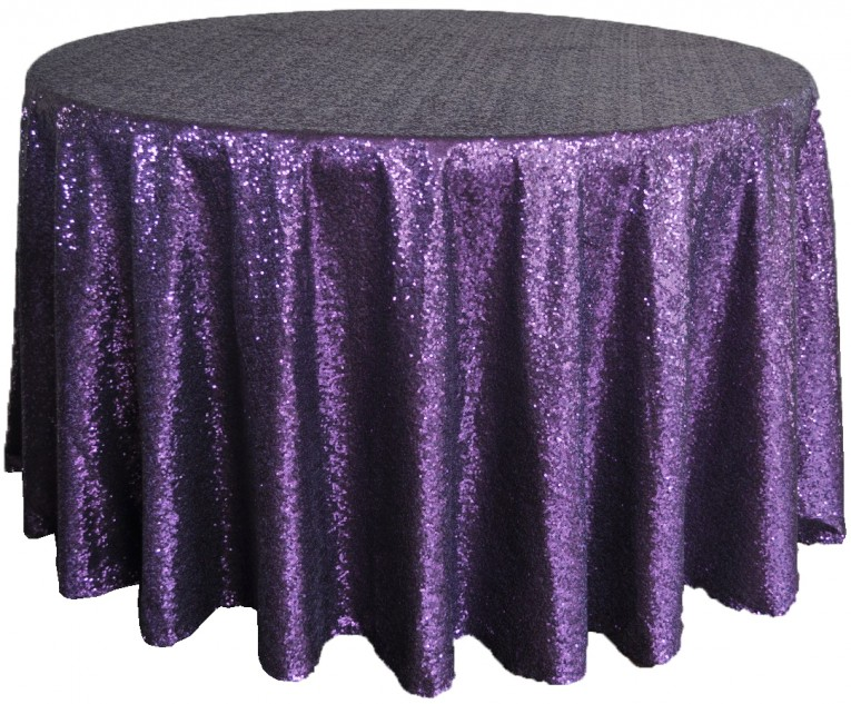 Purple Black 120 Round Tablecloth For Dining Room Furniture Decor Ideas