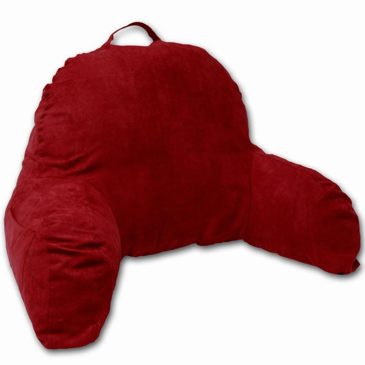 Red backrest pillow with arms