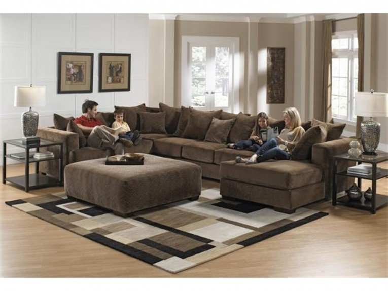 Wonderful Living Room Sectionals With Rug And Ottoman