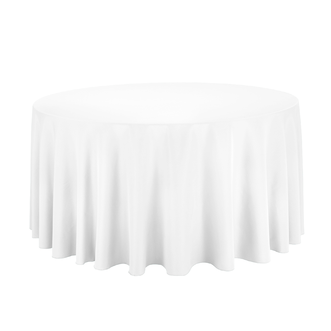 Wonderful white 120 round tablecloth