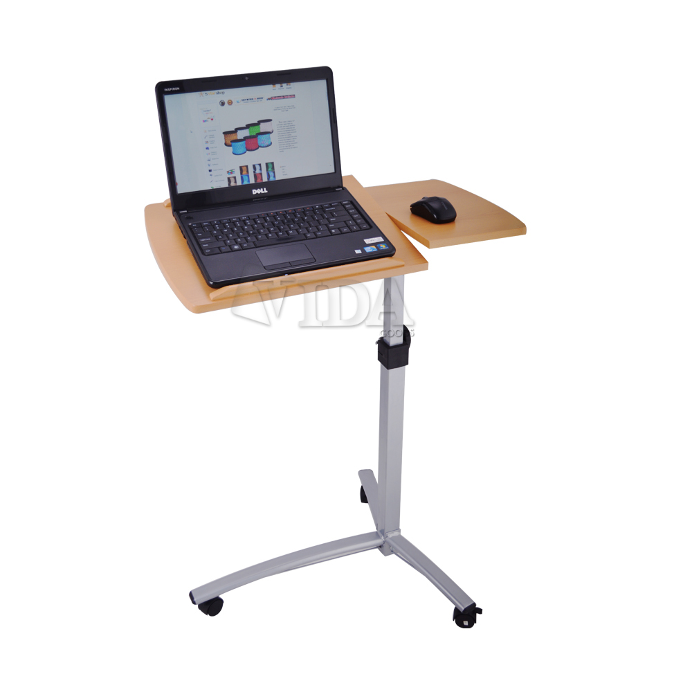 Beautiful Laptop Desk Stand for Work Space or Office: Adorable Laptop Desk Stand With Aluminium Feet With Roll For Work Space Or Office Furniture Ideas