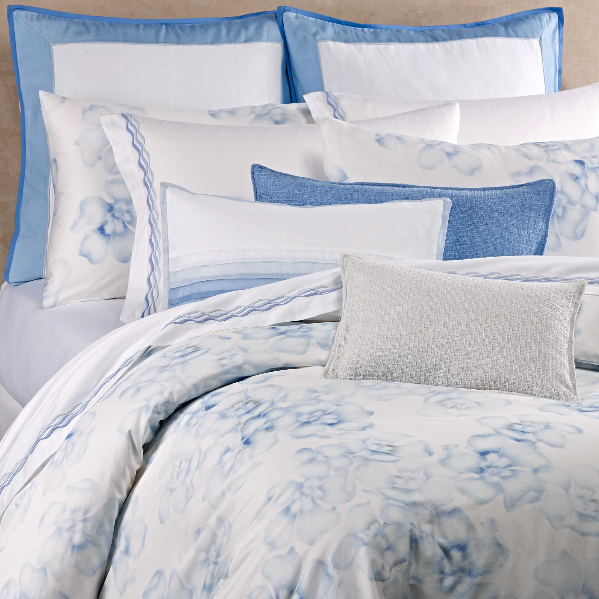 adorable white snow pillow and natori bedding