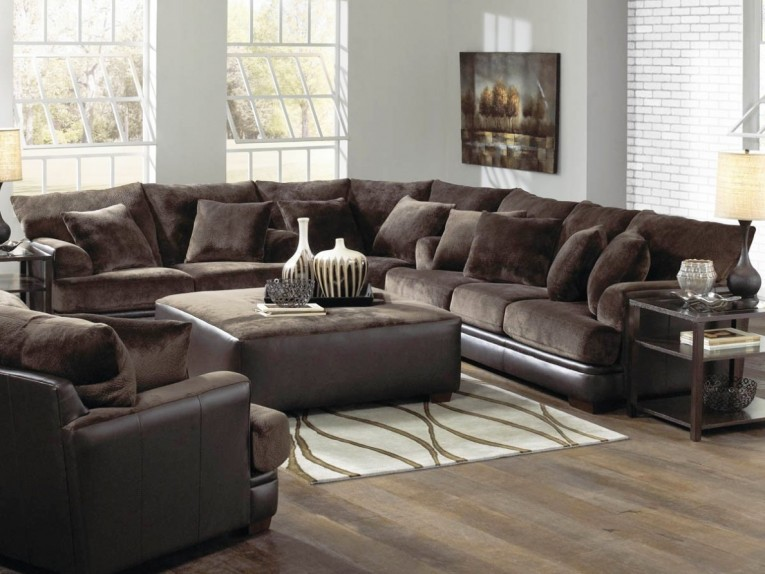 Amazing Living Room Sectionals With Squre Table Also Wood Floo