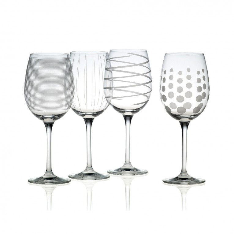 Amazing Mikasa Wine Glasses With Lovely Pattern