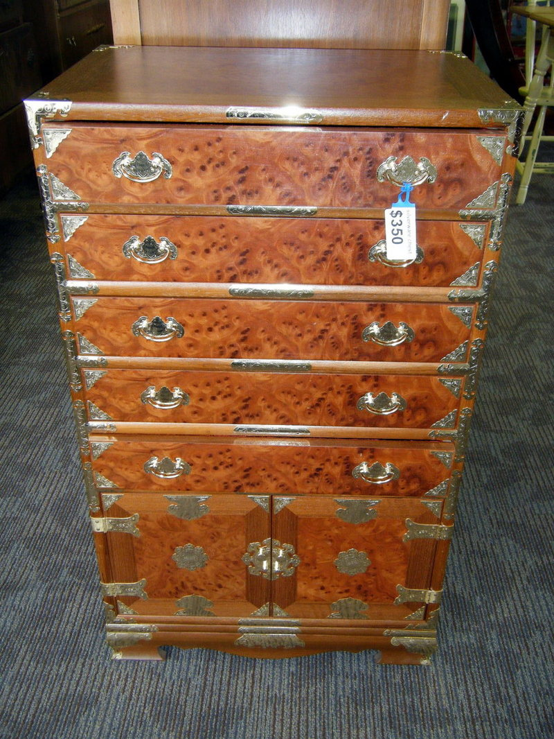 Interesting using Silverware Chest for Saving Flatware Ideas: Amazing Silverware Chest With 3 Drawers And 1 Doors Shelf