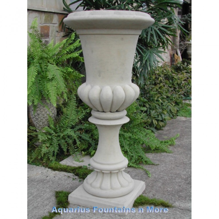 Amazing Urn Planters White Color For Exterior