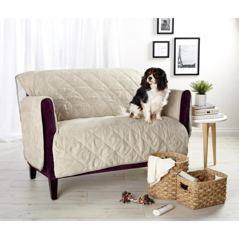 Amazing Waterproof Couch Cover With Purple Sofas