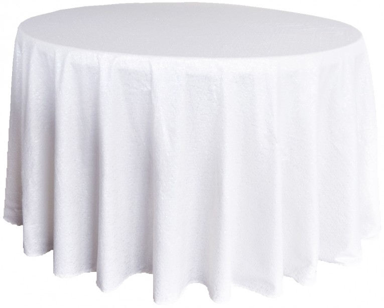 Amazing White 120 Round Tablecloth