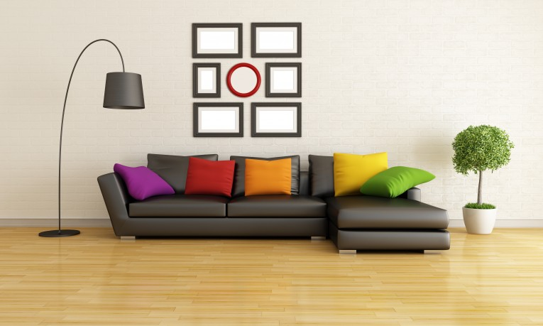 Arc Lamp And Sectional Sofa Sofa Pillows