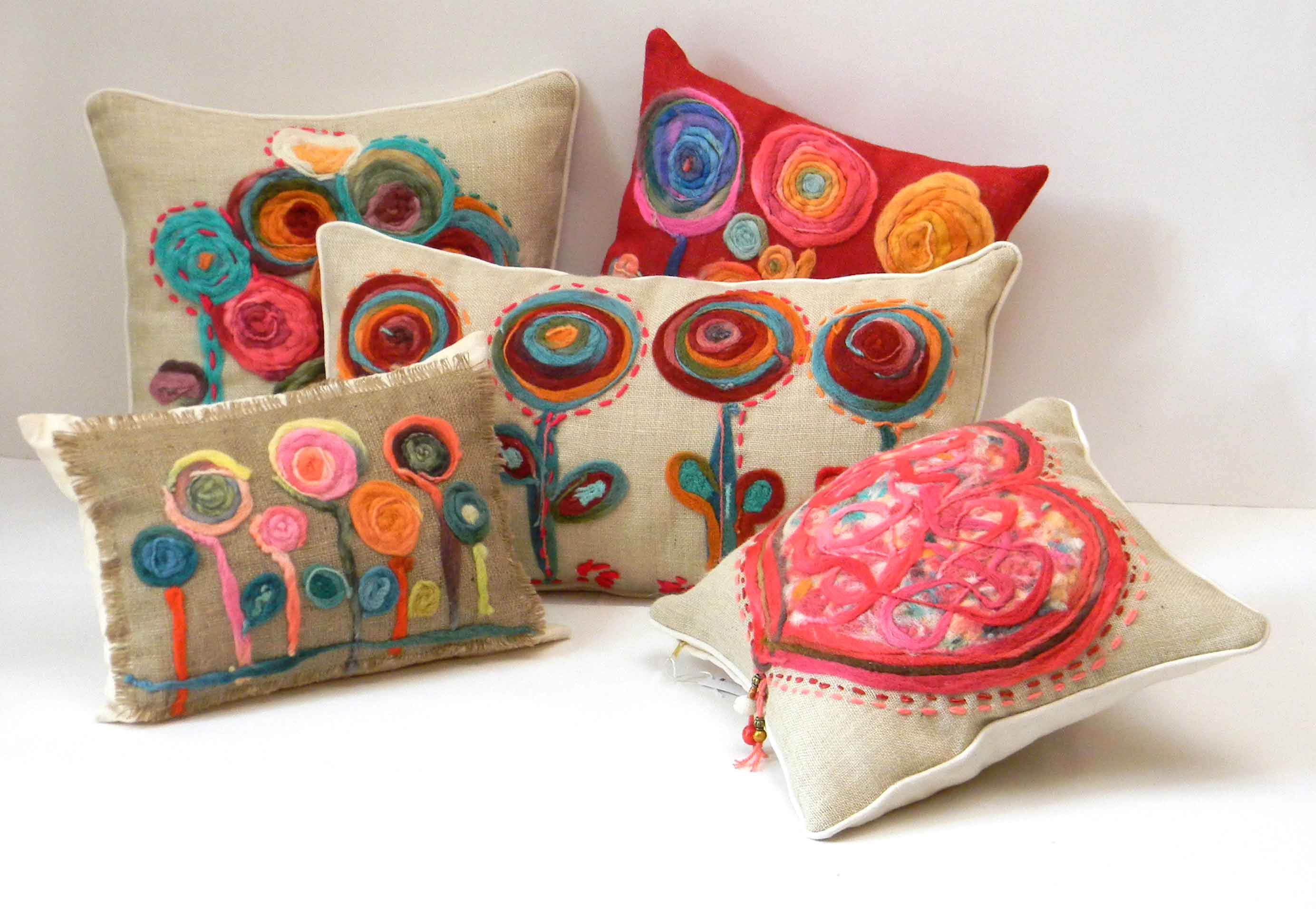 Luxury Sofa Pillows with Elegant Pattern for Living Room Interior: Assorted Multicolor Sofa Pillows