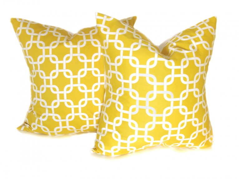 Attractive Yellow Throw Pillows With 20x20 Inches And With True Patterns Yellow Throw Pillows For Living Room Ideas