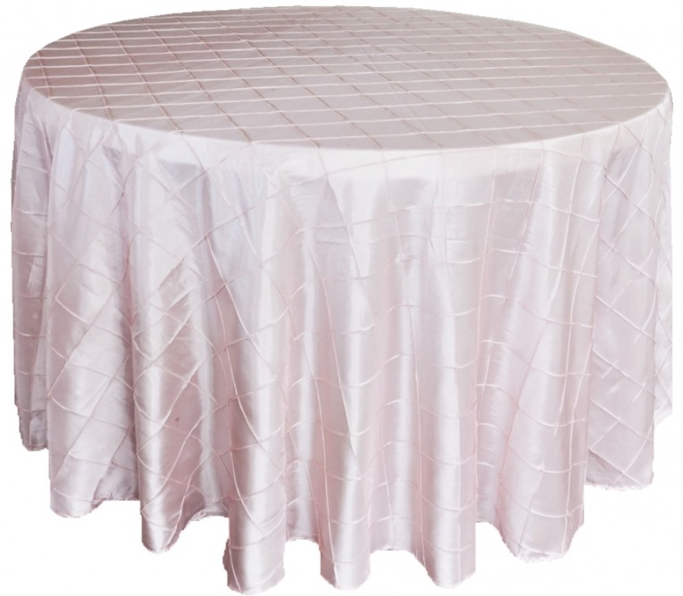 Beautiful Light Pink 120 Round Tablecloth