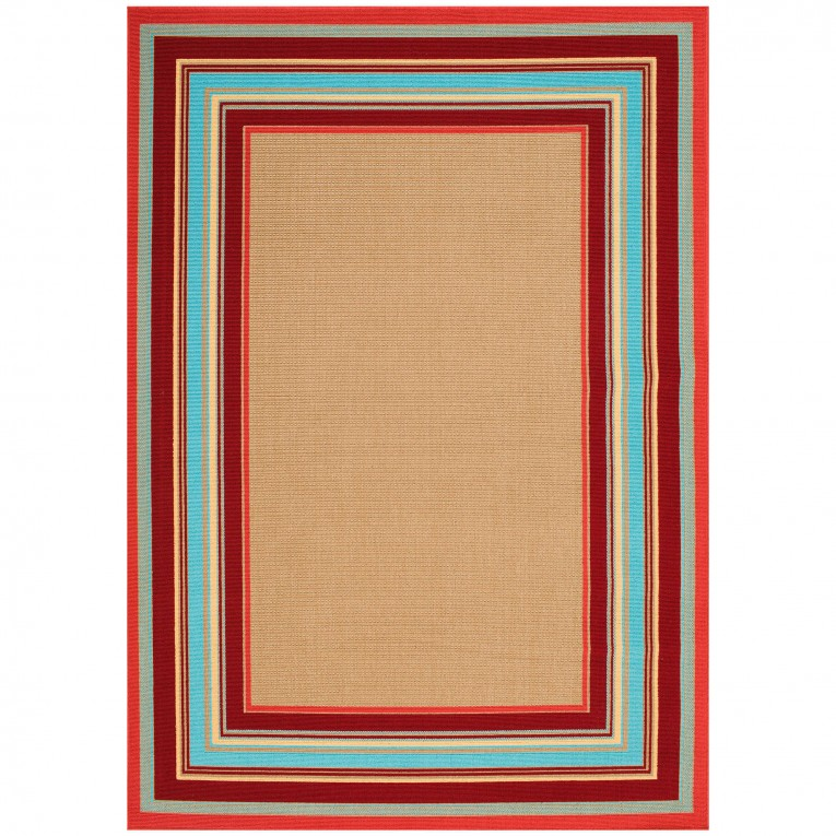 Beautiful Maples Rugs With Red And Blue Colors