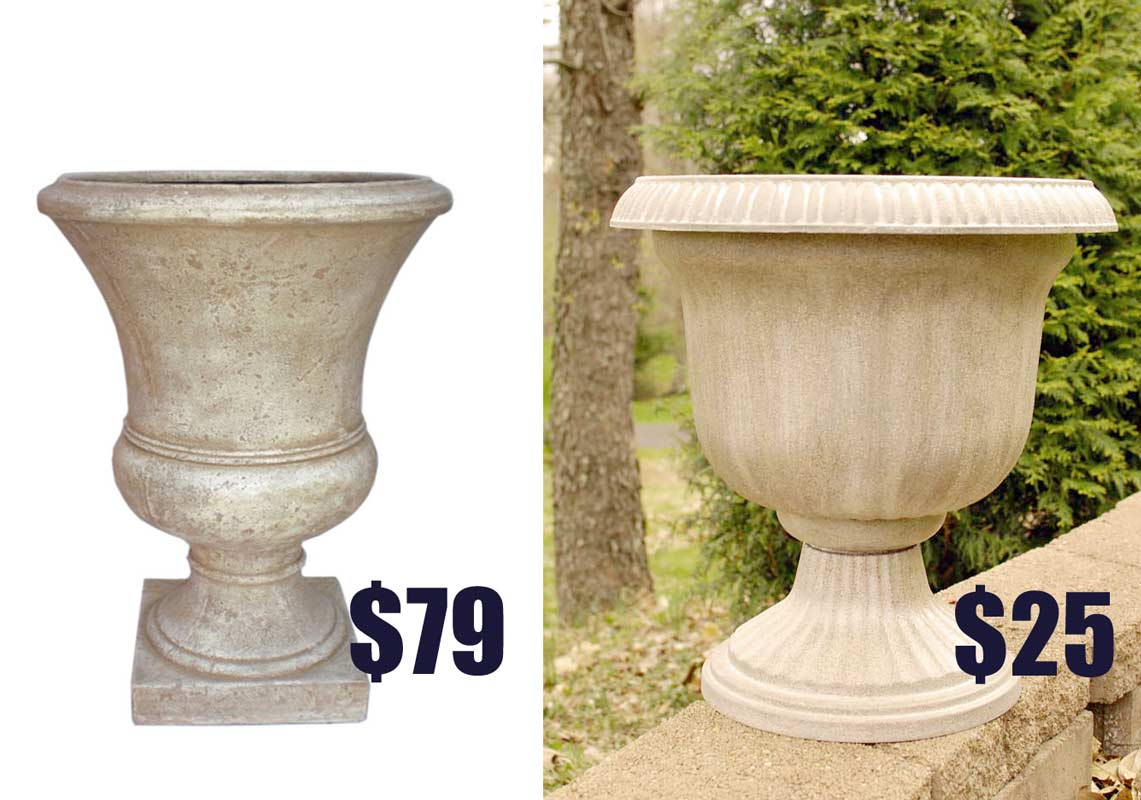 beautiful urn planters white color for exterior
