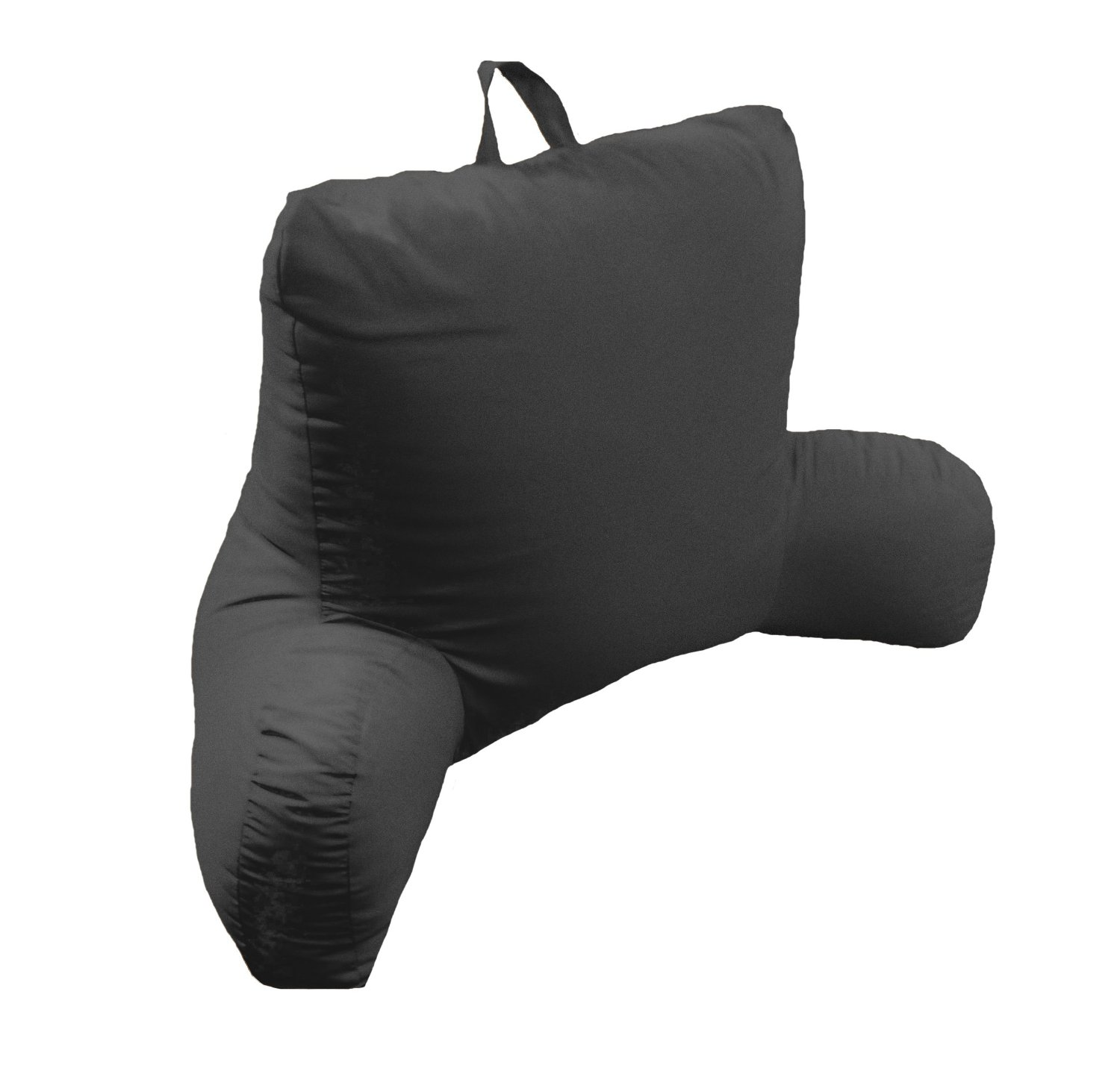 Alluring Backrest Pillow with Arms for Living Room Interior Ideas: Black Backrest Pillow With Arms Ideas