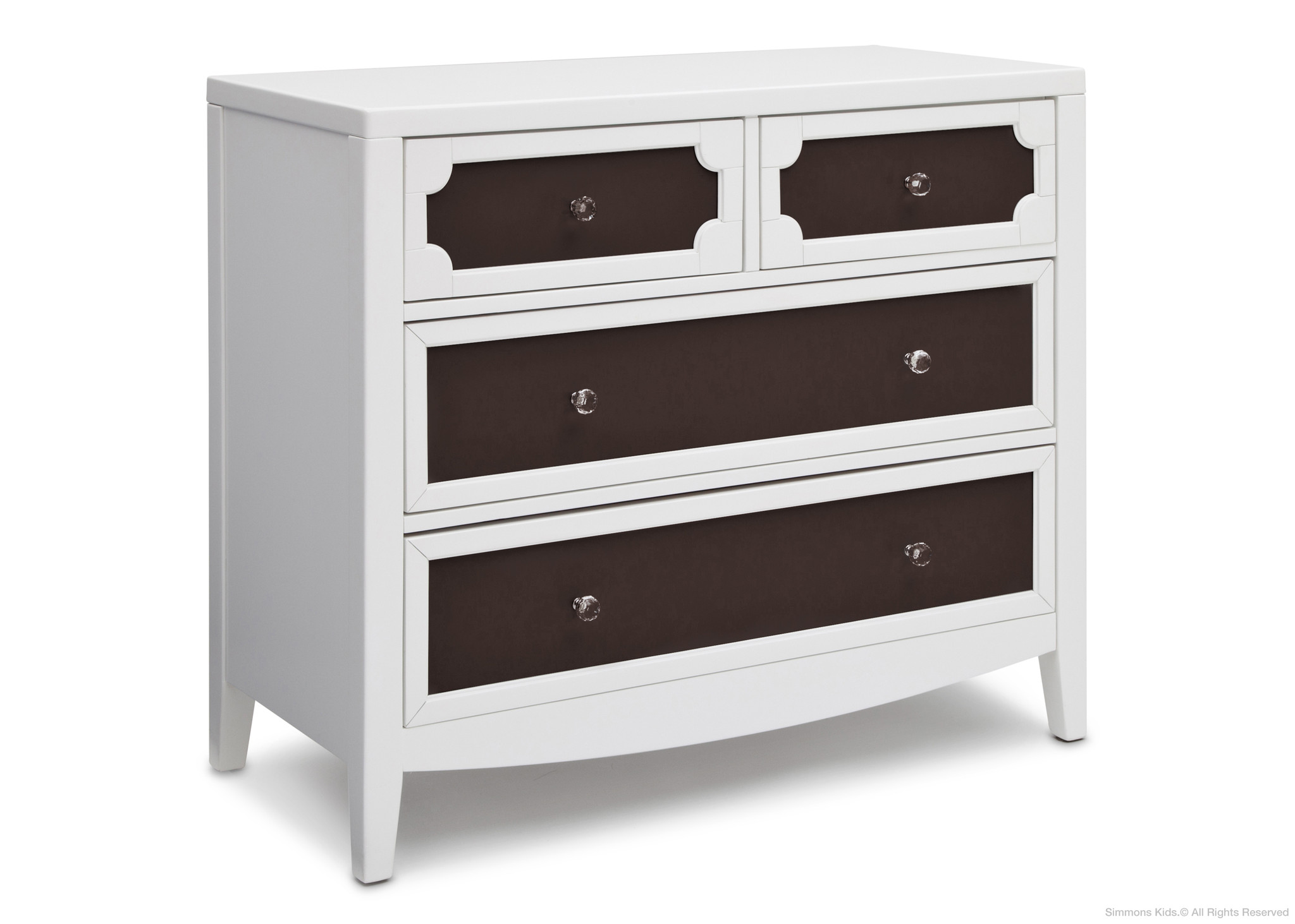 brown and white of 4 drawer dresser color