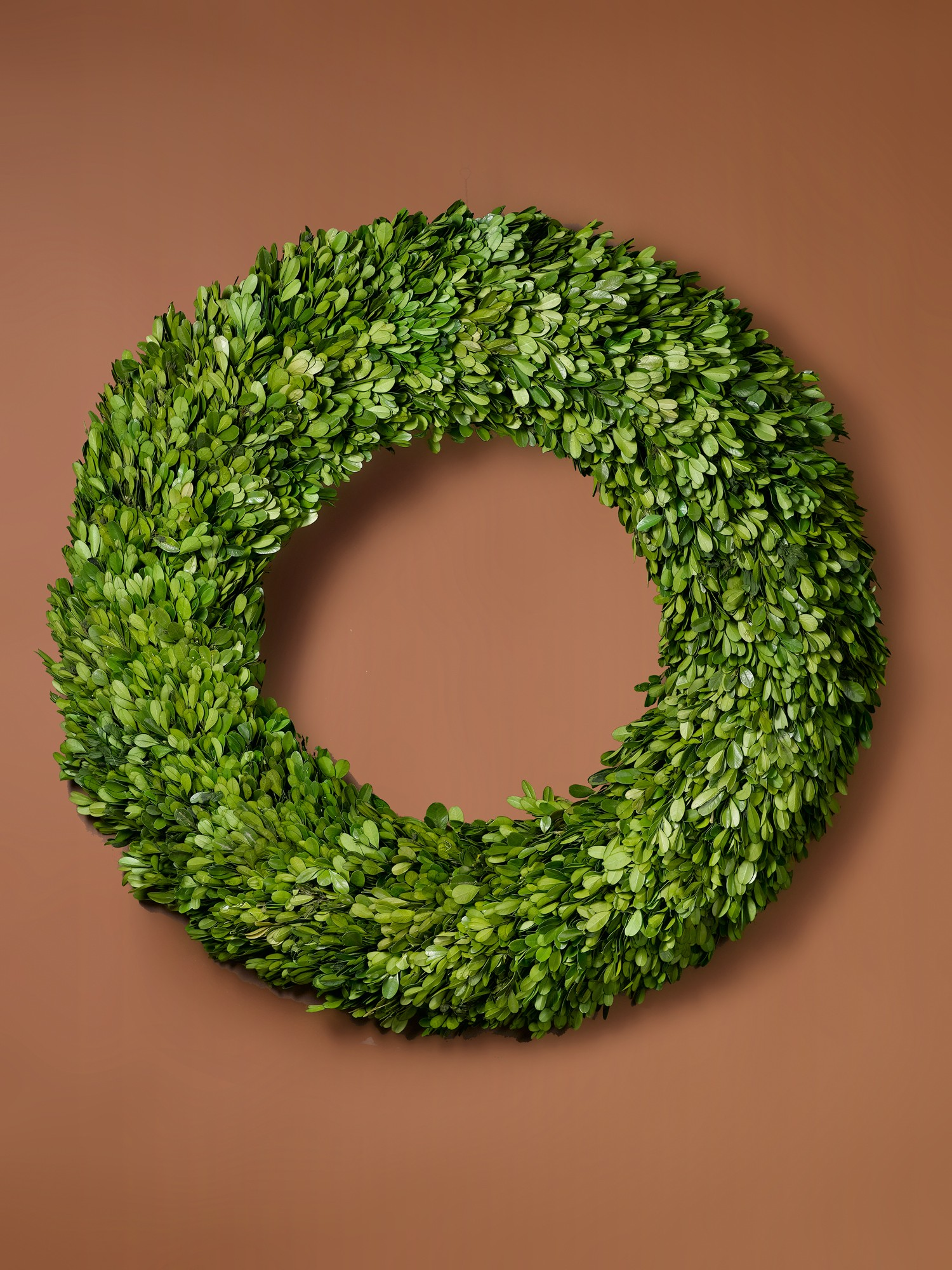 circle artificial boxwood wreath