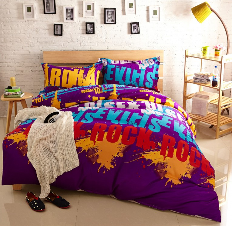 Creative Comforters For Teens Rock Pattern For Boy Teen Ideas