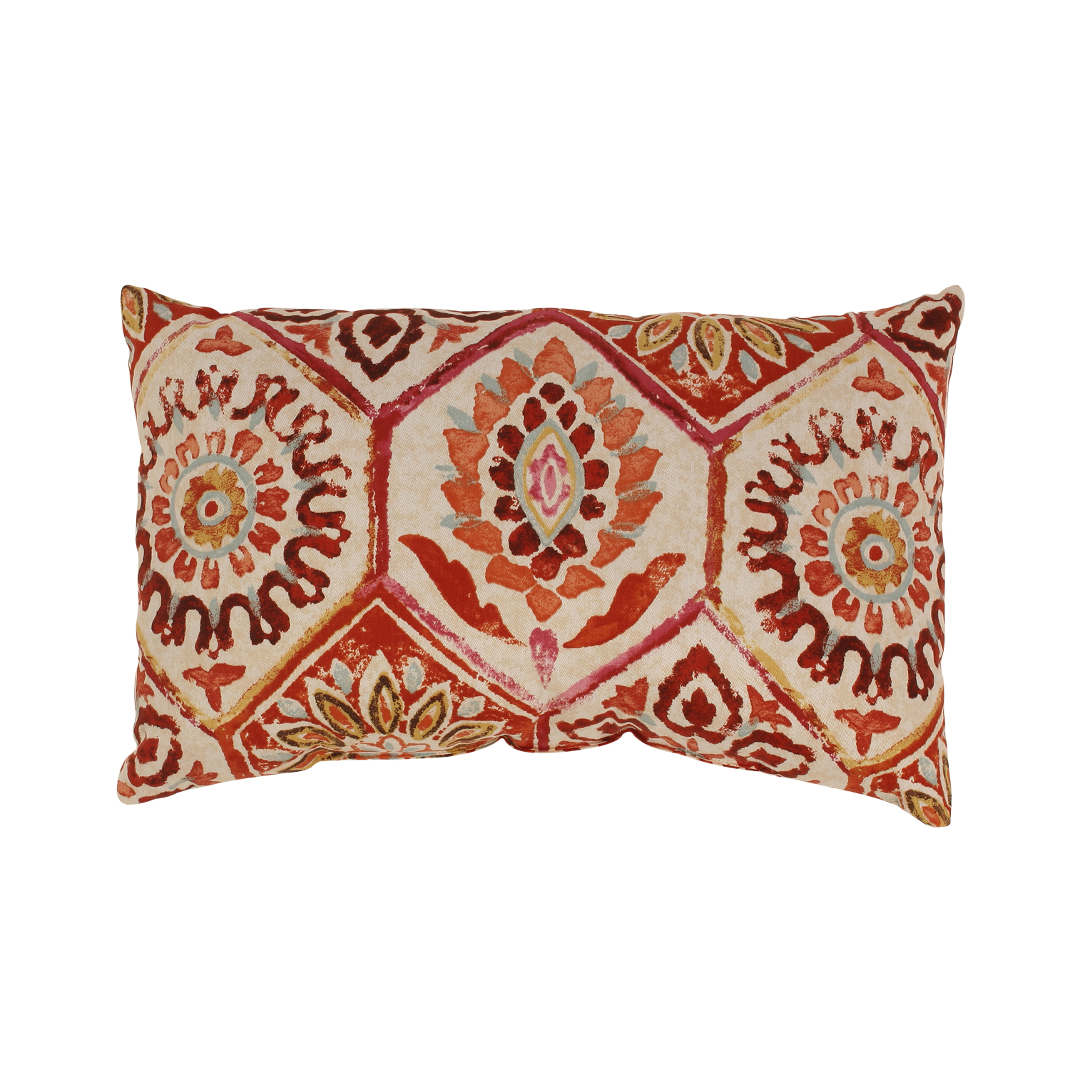 Luxury Sofa Pillows with Elegant Pattern for Living Room Interior: Crimson Sofa Pillows