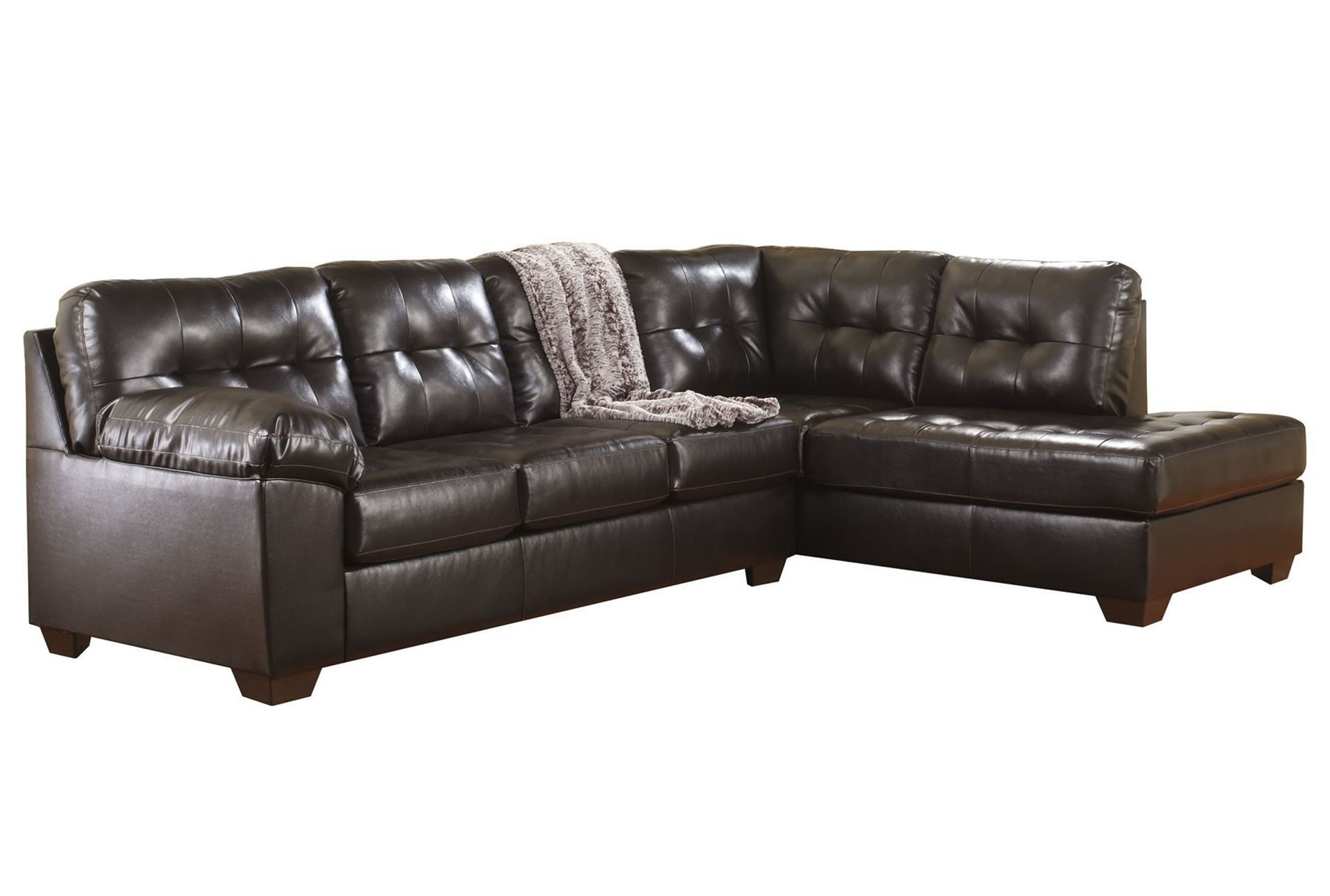 Elegant Furniture Combined with Living Room Sectionals: Dark Brown Leather Living Room Sectionals